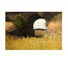 Railway Bridge,Geelong Outskirts Art Print