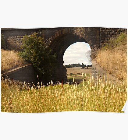 Railway Bridge,Geelong Outskirts Poster
