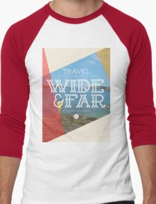 Travel Wide & Far Men's Baseball ¾ T-Shirt