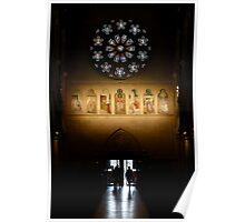Afternoon glow , Christchurch church NZ Poster