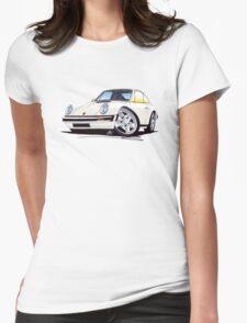 Porsche 911 White Womens Fitted T-Shirt