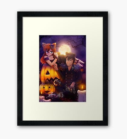 Halloween with Ada & Faust Framed Print