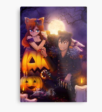 Halloween with Ada & Faust Metal Print