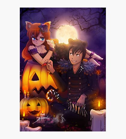 Halloween with Ada & Faust Photographic Print