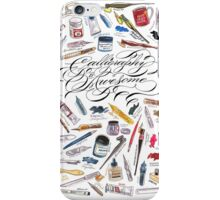 Calligraphy Is Awesome! iPhone Case/Skin