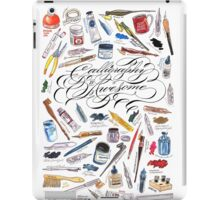 Calligraphy Is Awesome! iPad Case/Skin