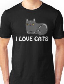 I Love Cats T Shirt Unisex T-Shirt