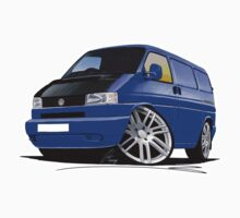 VW T4 Transporter Van Blue A by Richard Yeomans