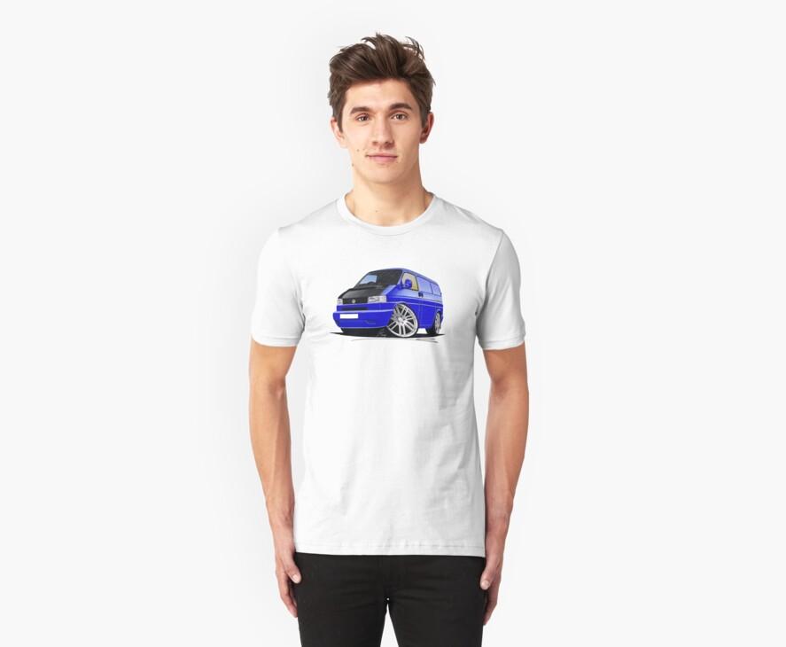 VW T4 Transporter Van Blue A by Richard Yeomans