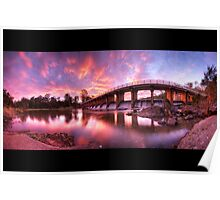Mt Crosby Weir Sunset Panorama Poster