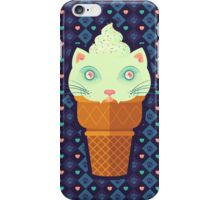 Strawberry-Mint Cat iPhone Case/Skin