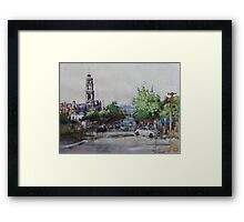Gerringhap Street looking towards Corio Bay,Geelong Framed Print