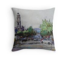 Gerringhap Street looking towards Corio Bay,Geelong Throw Pillow