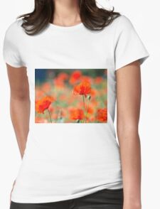 Field of poppies Womens Fitted T-Shirt