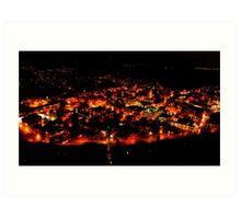 Johnstown, PA at Night Art Print