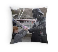 jake takes on the force Throw Pillow