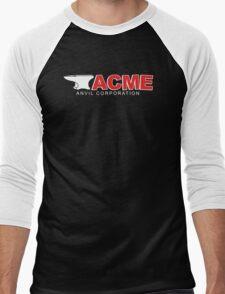 Acme Anvil Corporation Funny T-Shirt Men's Baseball ¾ T-Shirt