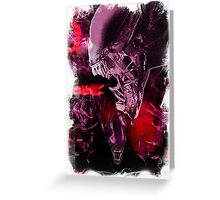 "Xenomorph ""Xenomorphobia"" Alien  Greeting Card"