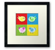 Cute Fluffy Rainbow Little Chicks Framed Print