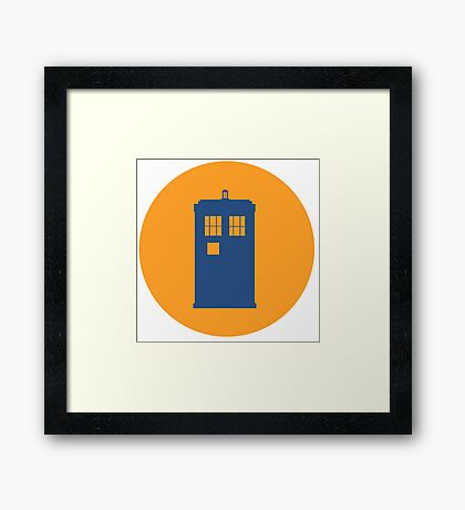 Doctor Who Icon Framed Print