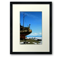 RUSSIA - Rusted Hulk - Lake Baikal Framed Print