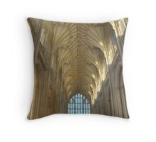 The Nave and West Window Throw Pillow