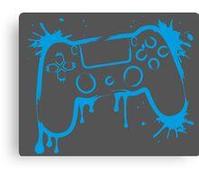 Playstation 4 Controller (Splatter) Canvas Print