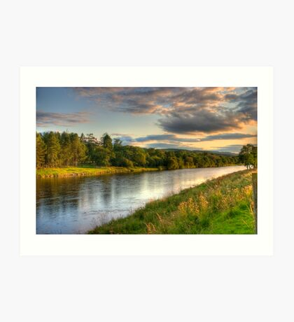 River Dee at Milton of Crathes Looking West Art Print