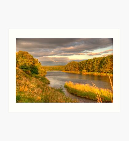 River Dee Looking East at Milton of Crathes Art Print