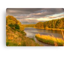 River Dee Looking East at Milton of Crathes Canvas Print