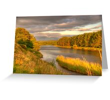 River Dee Looking East at Milton of Crathes Greeting Card