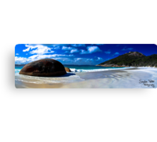 Little Beach Panorama Canvas Print