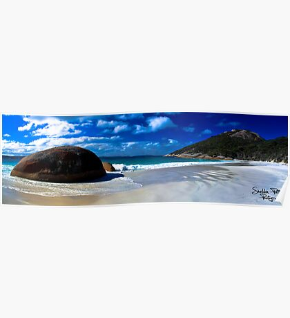 Little Beach Panorama Poster