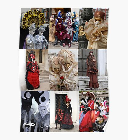 Venice Carnival People  Poster