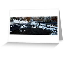 Icy  Roads & Freezing Toes! Greeting Card