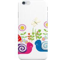 Kids Cute Fantasy Fairytale Snail Garden iPhone Case/Skin