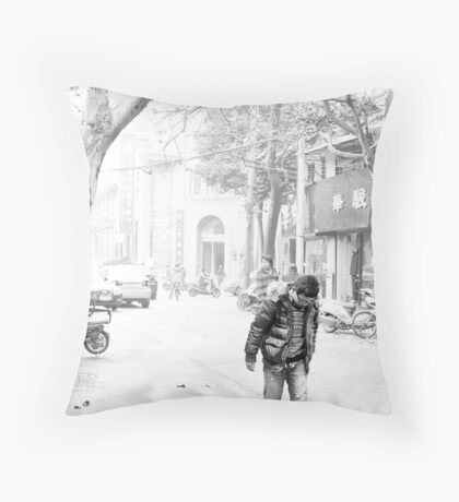 Pressing Ahead Throw Pillow