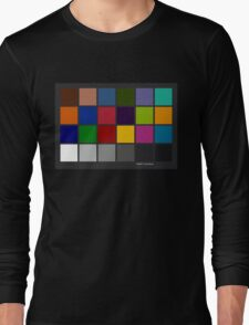 Color Checker Chart Long Sleeve T-Shirt