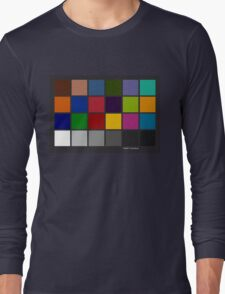 Color Checker Chart Long Sleeve T-Shirt