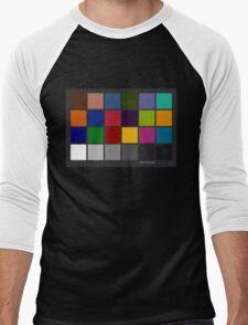 Color Checker Chart Men's Baseball ¾ T-Shirt