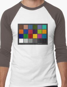 Color Checker Chart Men's Baseball ¾ T-Shirt