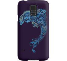 Blue dolphin - unique sea artwork   Samsung Galaxy Case/Skin