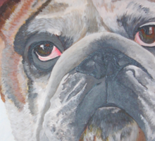 American Bulldog Portrait Sticker