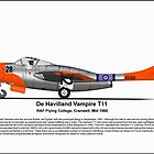 De Havilland Vampire T11 by coldwarwarrior