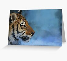 Tiger - exploration in colors Greeting Card