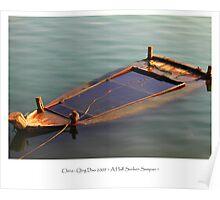 Nature: Sunken Sampan in Water Poster