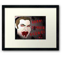 Zombie Alert Framed Print