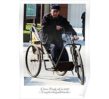 People: Riding a Tricycle with hands Poster