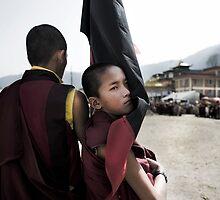 Tibetan Boy Monk by Kingston  Liu
