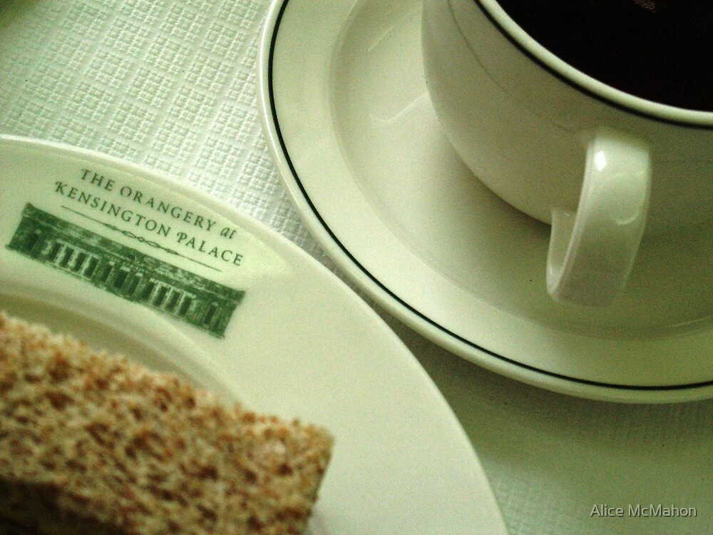 Finger Sandwich and Coffee by Alice McMahon